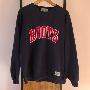 Vintage 90s Roots Canada Varsity Crewneck Sweater